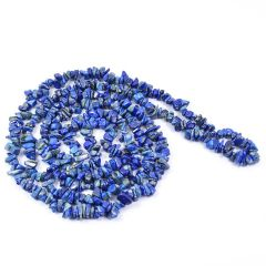 """Lapis Lazuli"" Crystal Chip Mala Healing Gemstone Necklace"