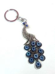 BEAUTIFUL METAL PEACOCK EVIL EYE KEY RING CHAIN Key Chain