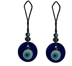 SET OF 2 EVIL EYE HANGING FOR YOUR CAR AND HOME FOR PROTECTION FROM EVIL EYES