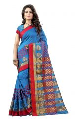 De Marca Firozi Colour Tussar - Silk Saree (Product Code - 369-107)