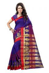 De Marca Blue Colour Tussar - Silk Saree (Product Code - 369-110)