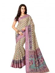 De Marca Multicolor Cotton Saree (Code - Cry6513)