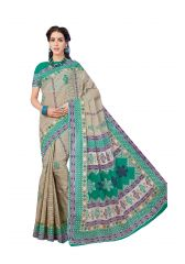 De Marca Multicolor Pure Cotton Saree (Code - Kal4965)