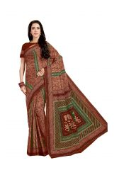 De Marca Brown Pure Cotton Saree (Code - Kal4966)