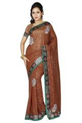 De Marca GEORGETTE BROWN Saree - (Code -M1159)