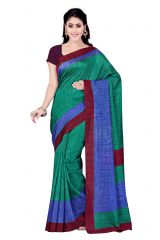 De Marca Green - Blue Art Silk Saree (Product Code - P-11)