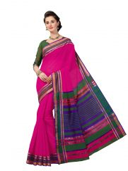 De Marca Multicolor Cotton Saree (Product Code - Riya423)