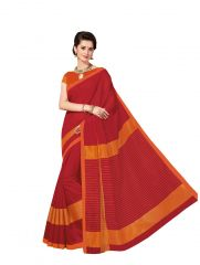 De Marca Multicolor Cotton Saree (Product Code - Riya433)