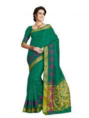 De Marca Green Colour Tussar - Jacquard - Brasso Saree (Product Code - Rudr2414)
