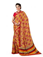 De Marca Red Crepe Saree (Product Code - SL4011B)