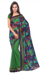 De Marca Green Colour Faux Georgette Saree (Product Code - TSAND1107A)