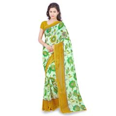De Marca Green Faux Georgette Saree (Product Code - TSAND1183D)