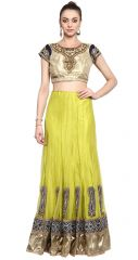 De Marca Green Colour Net-SatinLehenga Saree (Product Code - TSFL5618)