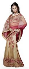 De Marca Golden Colour Net-SatinLehenga Saree (Product Code - TSMH3019)