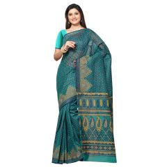 De Marca Green Cotton Saree (Product Code - TSMRCCAN1016)