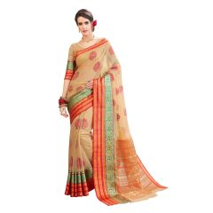 De Marca Multicolor Cotton-Silk Saree - ( Code - TSNBM93106 )