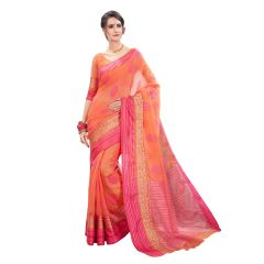 De Marca Orange Cotton-Silk Saree - ( Code - TSNBM93108 )