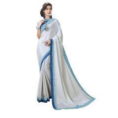 De Marca Light Grey Chiffon Saree - ( Code - TSNGF75110 )