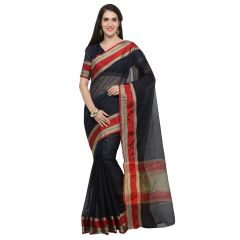De Marca Blue Blended Cotton Saree - ( Code - TSNME13027 )
