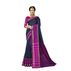 De Marca Blue Art Silk Saree - ( Code - TSNMT23001 )