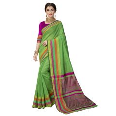 De Marca Green Art Silk Saree - ( Code - TSNMT23002 )