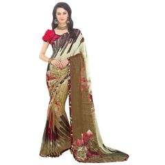 De Marca Multi Faux Georgette Saree (Product Code - TSNSB61004)