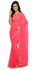 De Marca Pink Colour Chiffon Saree (Product Code - TSNSN1010)