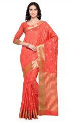 De Marca Orange Colour Banarasi Silk Saree (Product Code - TSRKA13487)