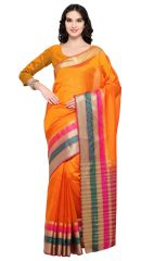 De Marca Yellow-Orange Colour Banarasi Silk Saree (Product Code - TSRKA13488)
