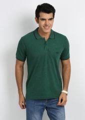 27ashwood T Shirts (Men's) - 27Ashwood Green Stripped Cotton Polo T-Shirts For Men