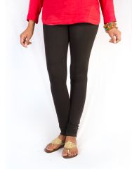 27ashwood Women's Clothing - 27Ashwood Black Solid Cotton Lycra Leggings For Women