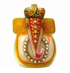 Golden Turban Marble Best King Ganesh - By Product