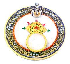 Chitrahandicraft Marble Puja Thali - By Product