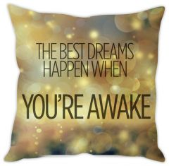 Stybuzz Dream Quote Cushion Cover