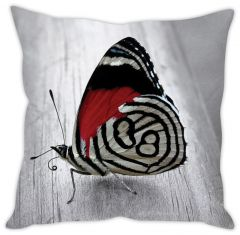 Stybuzz Grey Butterfly Cushion Cover