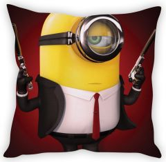 Stybuzz Minion In Black Cushion Cover
