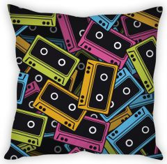 Stybuzz Cassettes Abstract Cushion Cover
