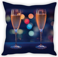 Stybuzz Wine Glasses Cushion Cover