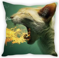 Stybuzz Smoking Cat Cushion Cover
