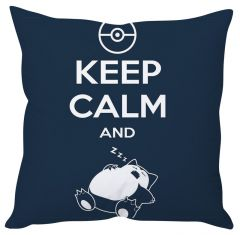 Stybuzz Keep Calm And Sleep Pokemon Cushion Cover