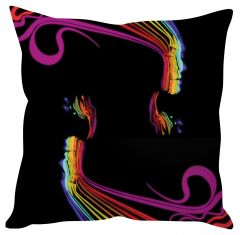 Stybuzz Rainbow Art Face Cushion Cover