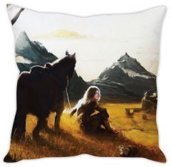 Stybuzz Girl With Horse Cushion Cover