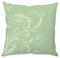 Pastel Green Floral Cushion Cover