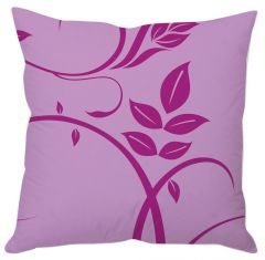 Purple Leaf Art Abstract Cushion Cover