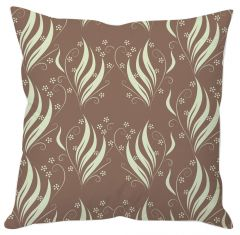 Leaves And Flowers Abstract Cushion Cover