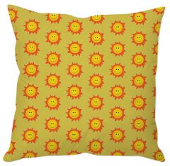 Cute Smiling Sun Abstract Cushion Cover