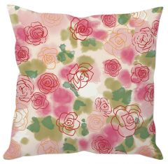 Pink Rose Abstract Cushion Cover