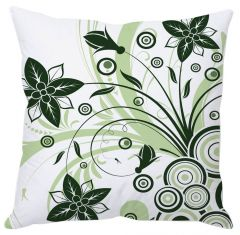 Shades Of Green Floral Cushion Cover
