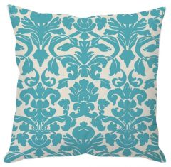 White And Blue Abstract Cushion Cover