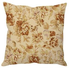 Beige Floral Cushion Cover